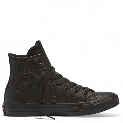 Converse Chuck Taylor All Star Leather Hi Top Black Monochrome
