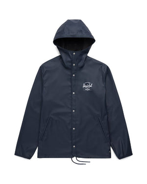Herschel Supply Rainwear Hooded Coach Jacket Peacoat