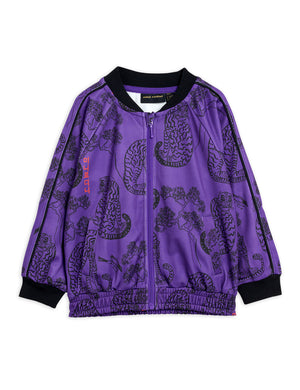 Mini Rodini Recycled Polyester Tigers WCT Jacket Purple