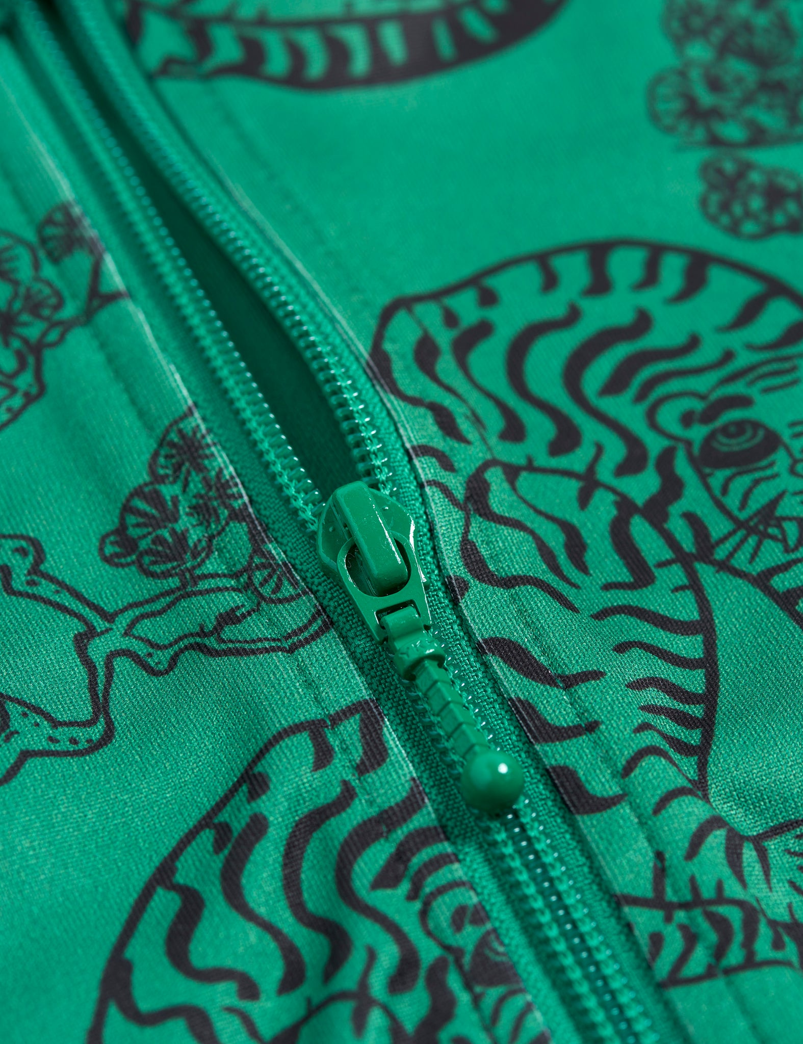 Mini Rodini Recycled Polyester Tigers WCT Jacket Green