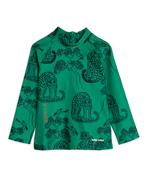 MIni Rodini Recycled Polyester TIgers UV Top Green