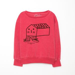 Weekend House Kids House Sweatshirt Red