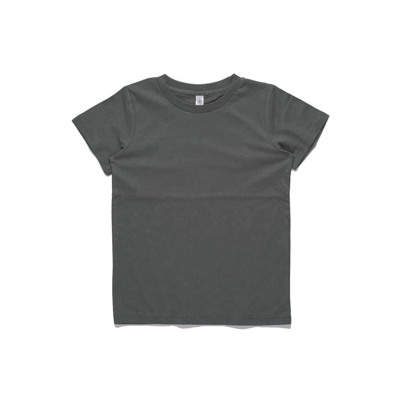 AS Colour Basic Kids Cotton Crew Neck Tee Shirt White, Navy, Coal and Grey Marl - Frankie's Story - 3