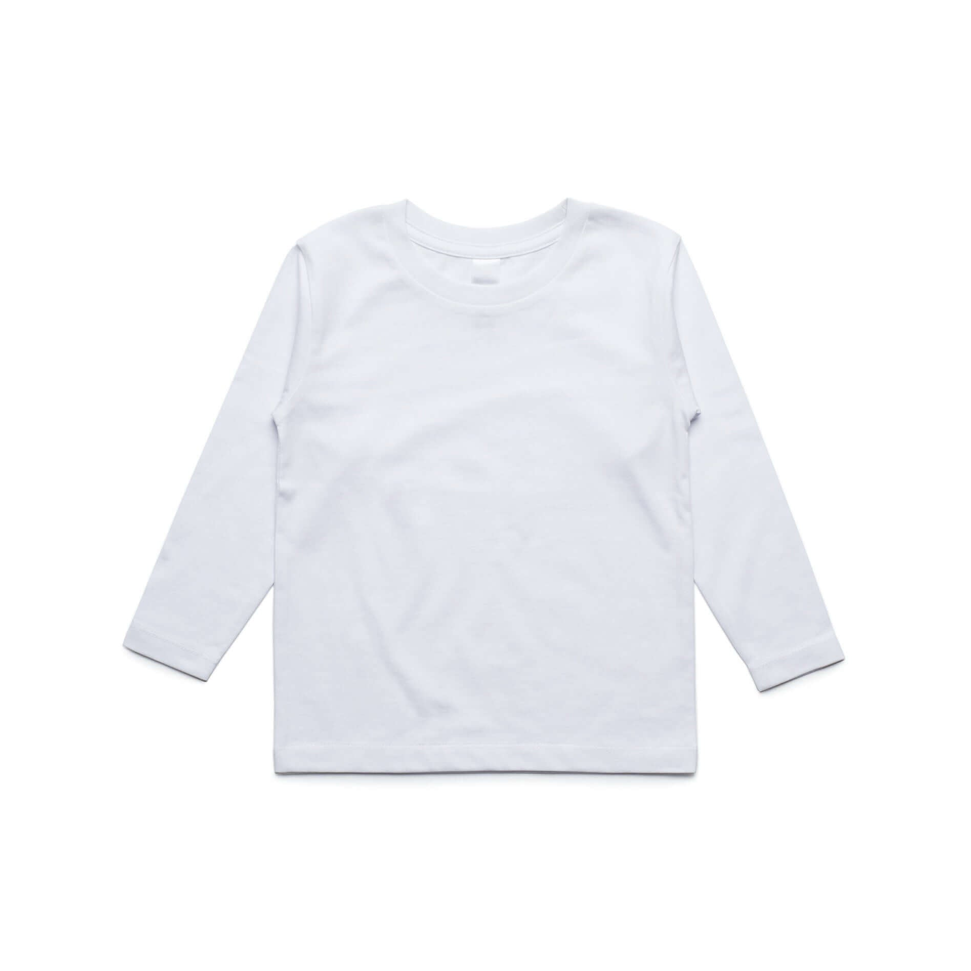 AS Colour Kids Cotton Long Sleeve Basic Tee Shirt White, Black and Grey Marl - Frankie's Story - 1