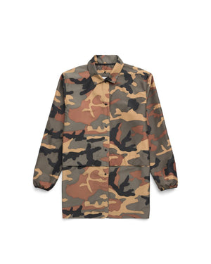 Herschel Supply Women's Voyage Long Coach Jacket - Woodland Camo