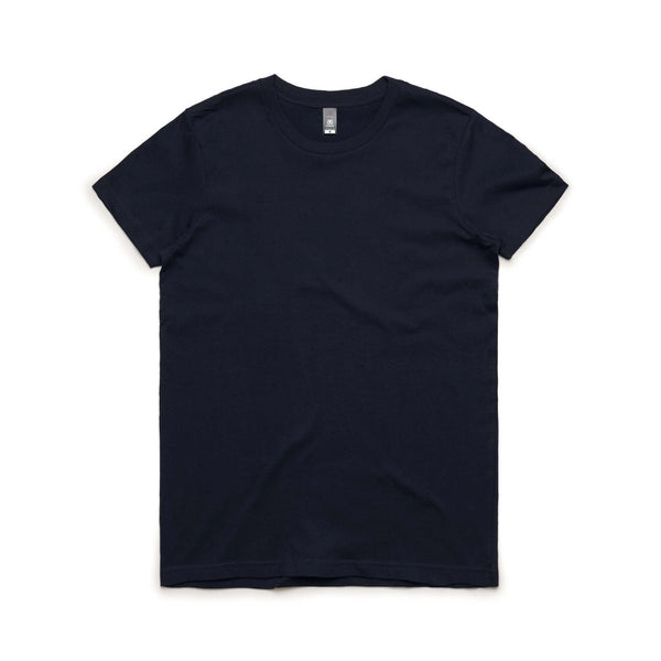 AS Colour Womens MAPLE TEE - Black, White, Charcoal, Grey Marle, Navy, Natural, Coral, Pale Pink and Sage