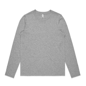 AS Colour Womens CHELSEA LONG SLEEVE TEE - Grey Marle