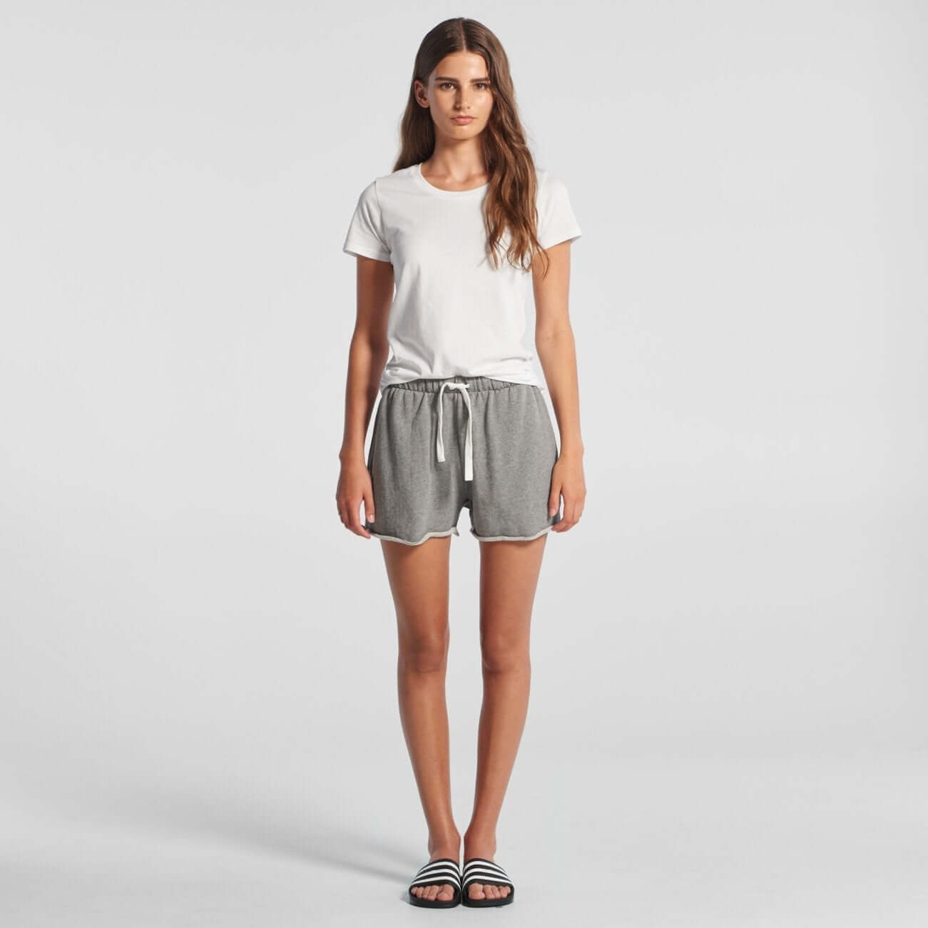 AS Colour Womens PERRY TRACK SHORT - Grey Marle