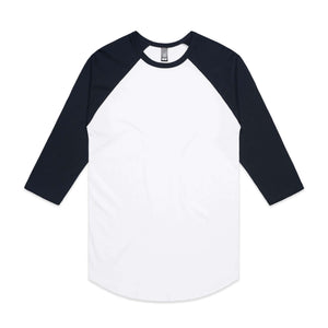 AS Colour RAGLAN  TEE -  White / Navy