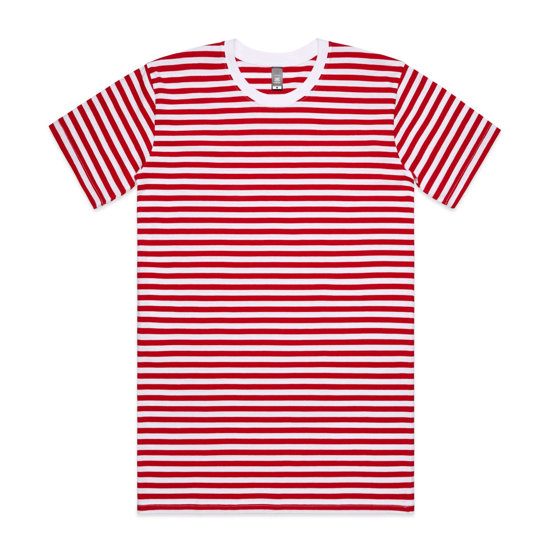 AS Colour STAPLE STRIPE TEE - Red / White