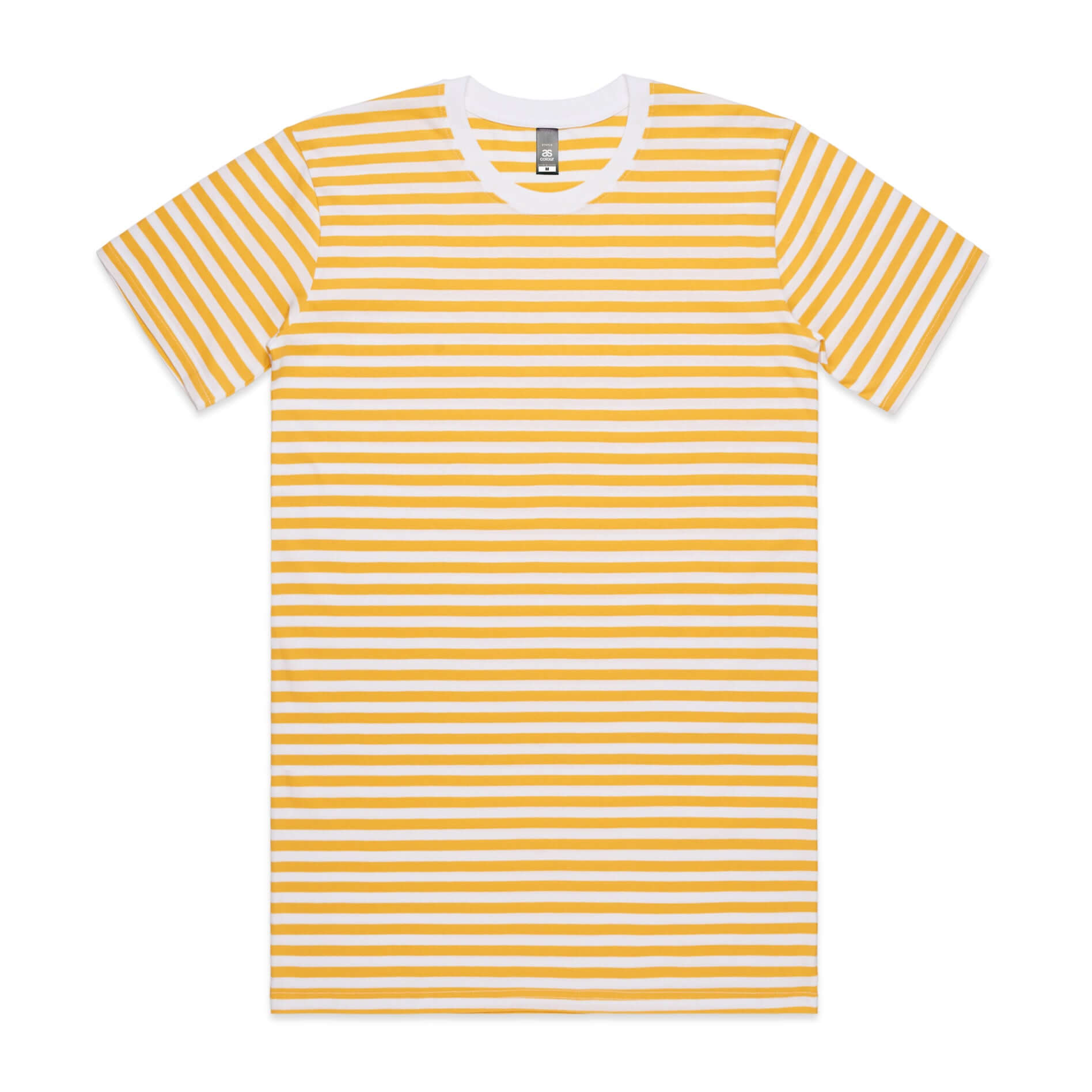 AS Colour STAPLE STRIPE TEE - Yellow / White