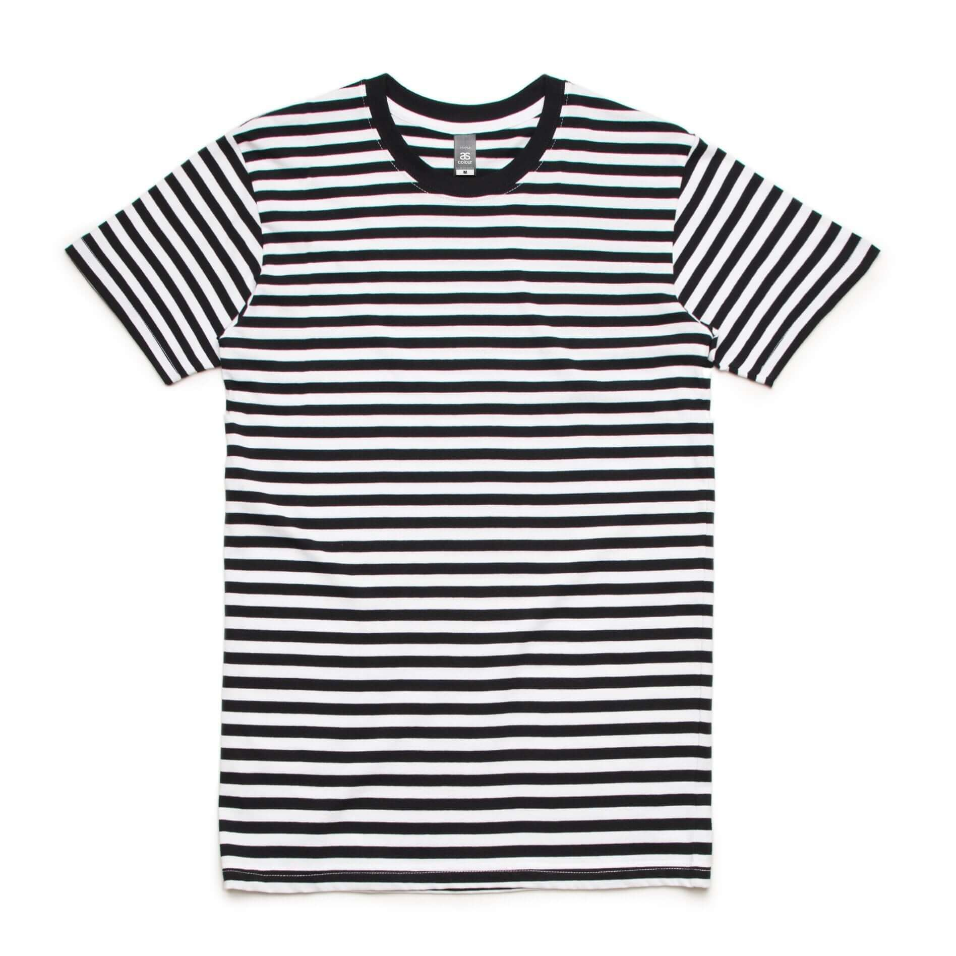 AS Colour STAPLE STRIPE TEE - Black/White