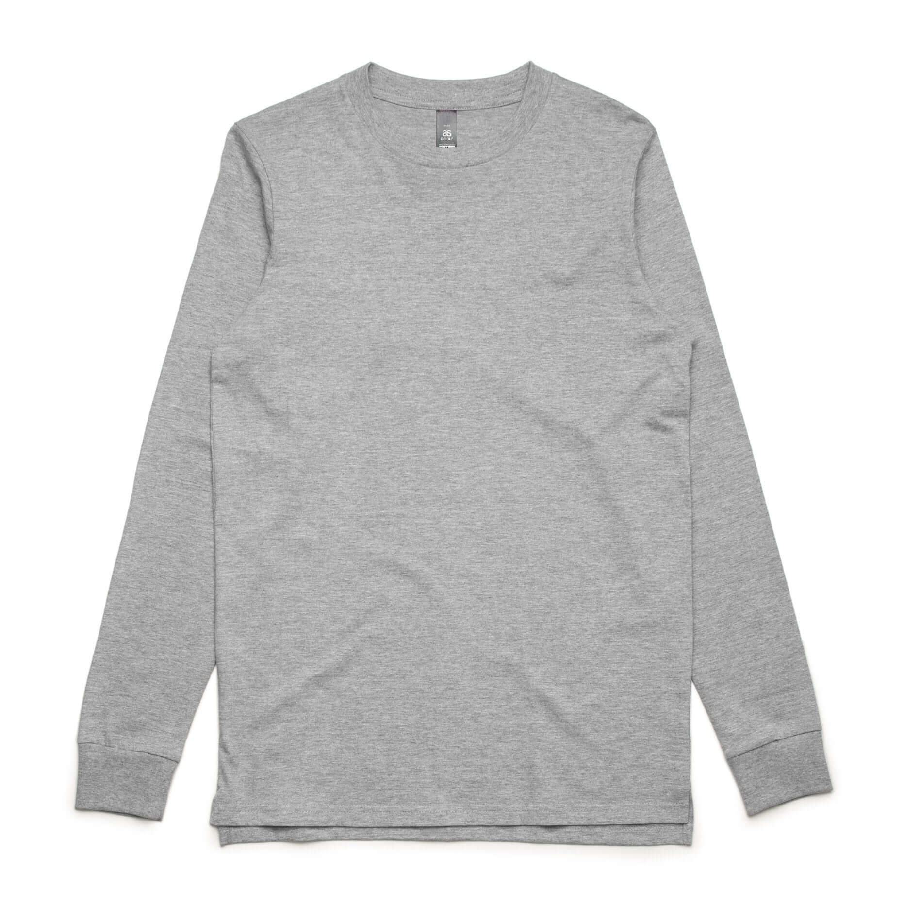 AS Colour BASE L/S TEE - Grey Marle
