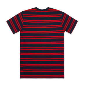 AS Colour CLASSIC STRIPE TEE - Navy/Red