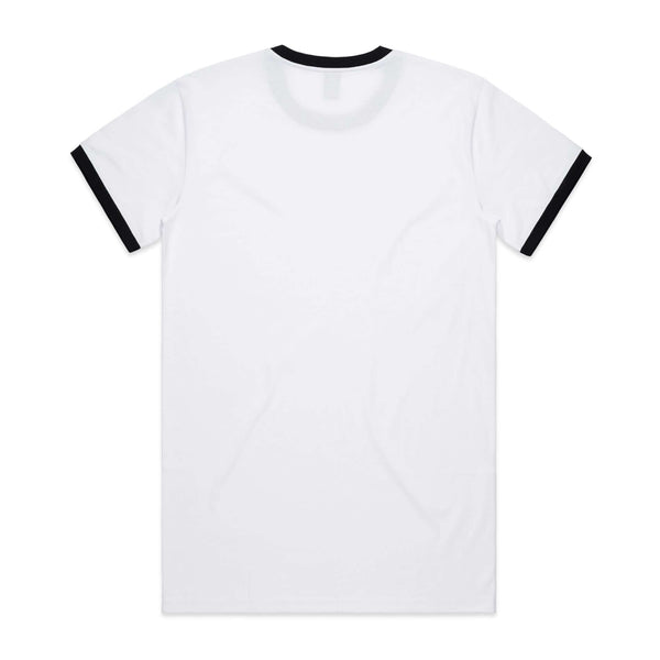 AS Colour RINGER  TEE -  White / Black