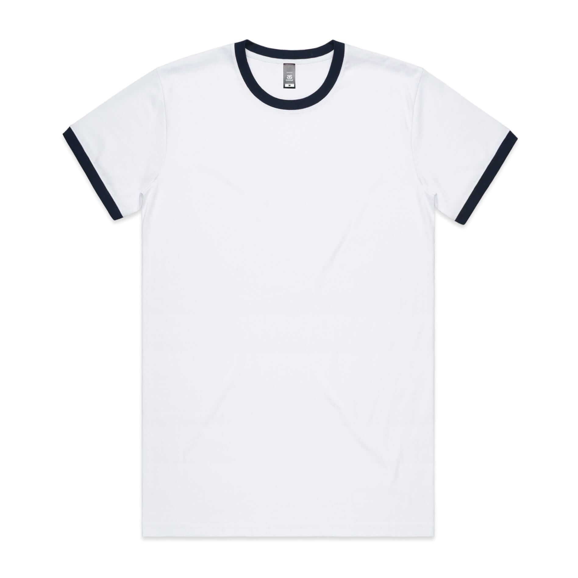 AS Colour RINGER  TEE -  White / Navy