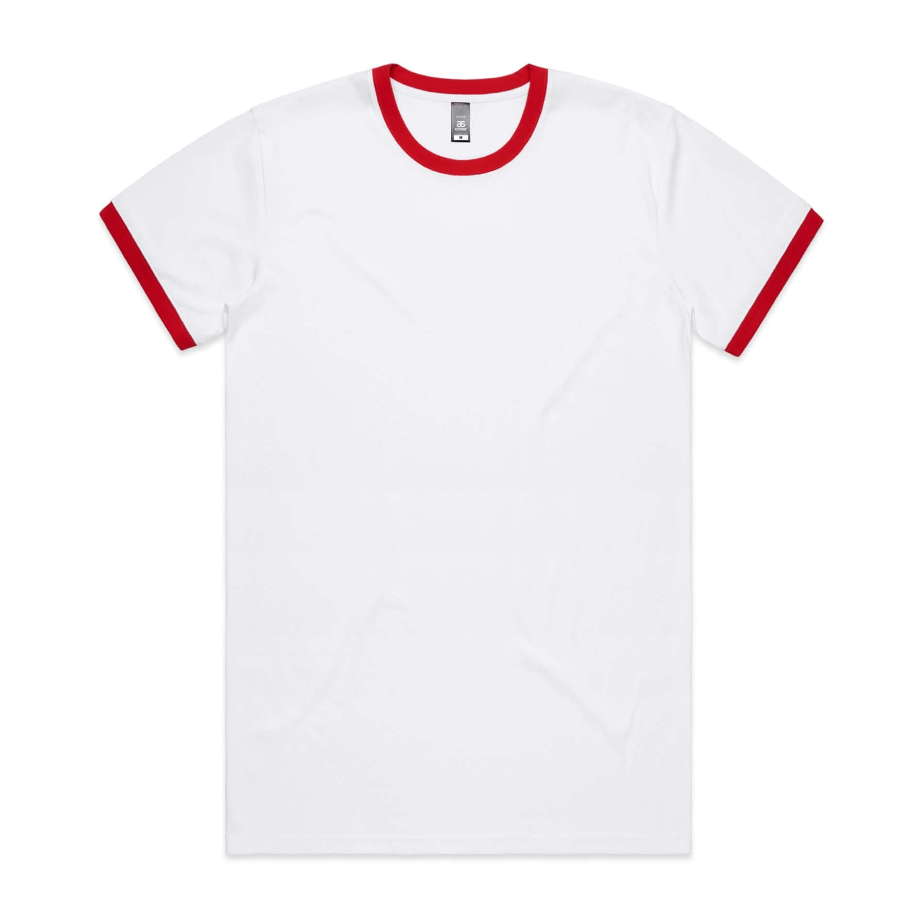 AS Colour RINGER  TEE -  White / Red