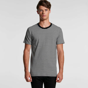 AS Colour  BOWERY STRIPE TEE - Natural/Black