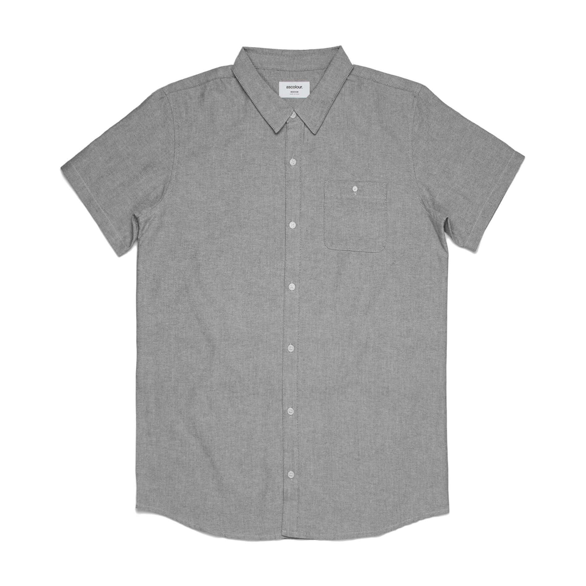 AS Colour OXFORD S/S SHIRT - Grey