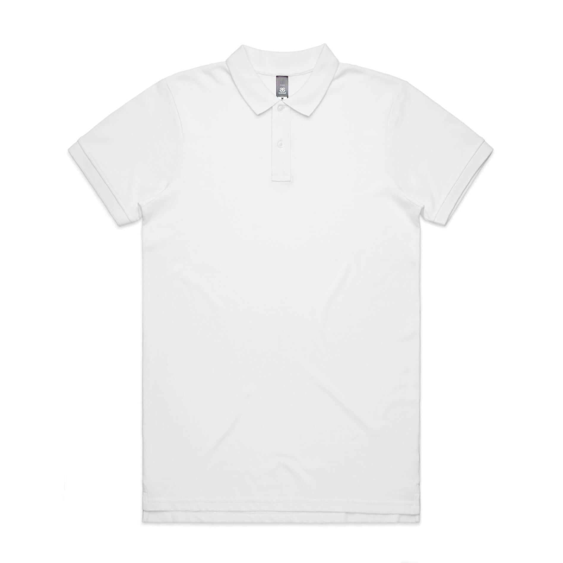 AS Colour PIQUE POLO - White