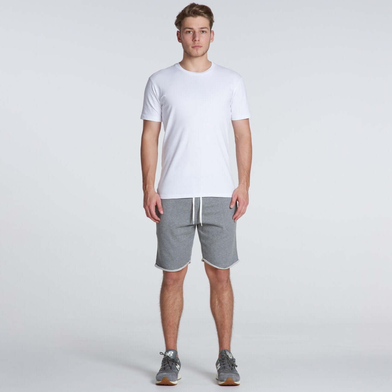 AS Colour TRACK SHORT - Steel Marle