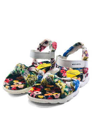 Wolf and Rita Abacate Flowers Velcro Sandals