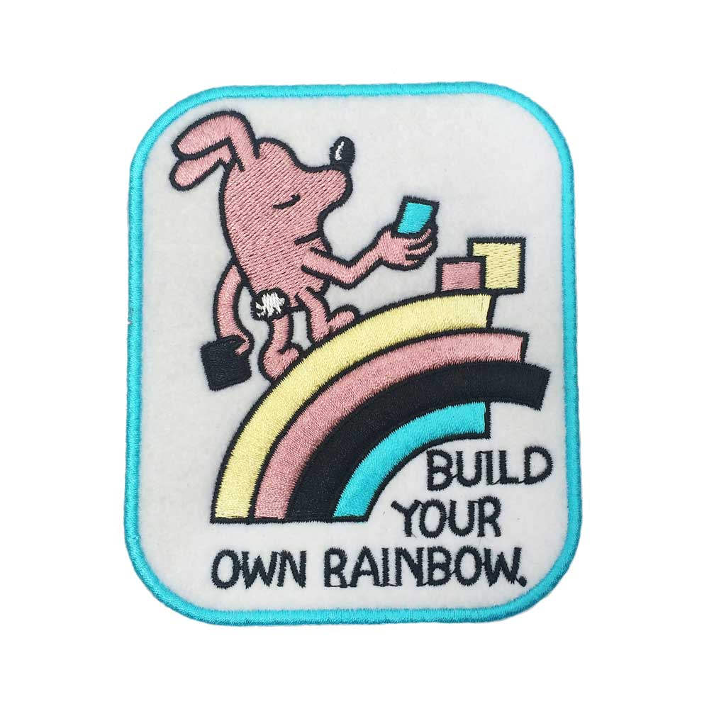 Jeremyville Build Your Own Rainbow Woven Patch