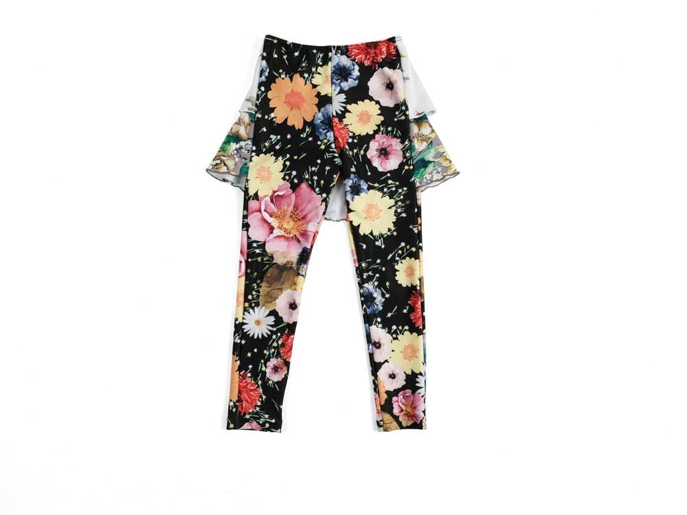 Wolf and Rita Filipa Flower Print Frill Swimwear Leggings