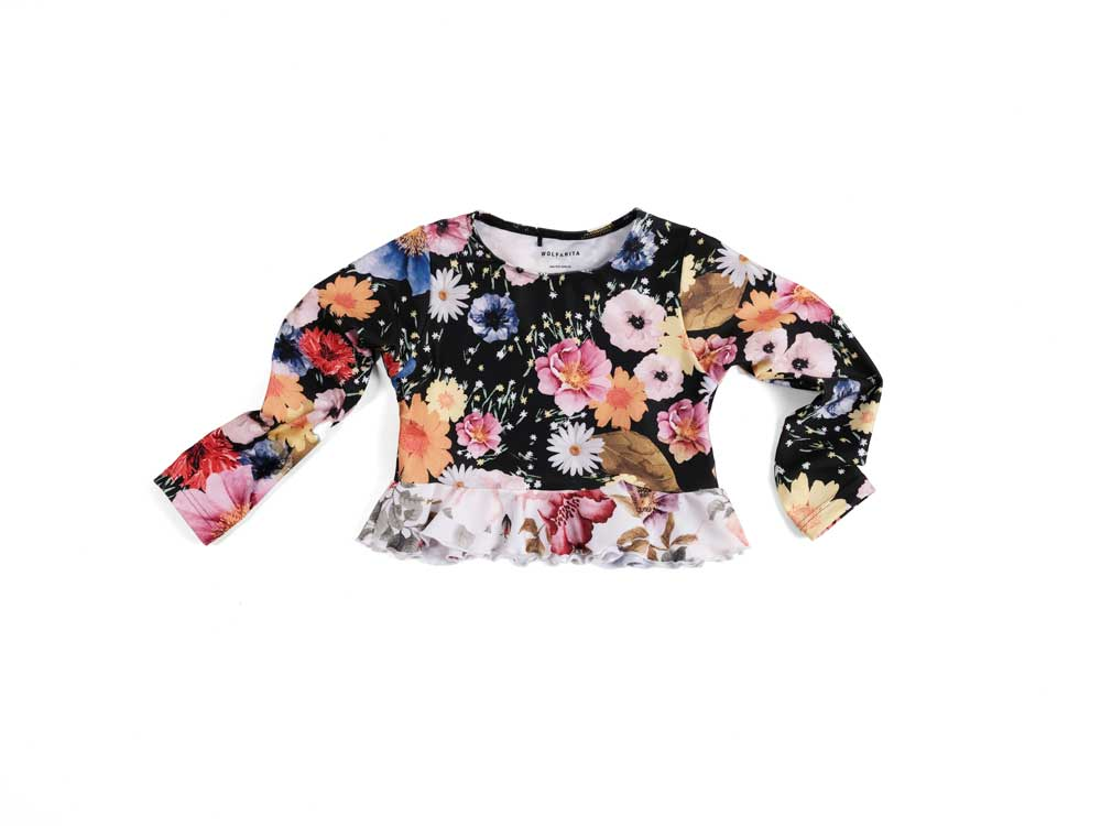 Wolf and Rita Maria Flower Print Swim Top