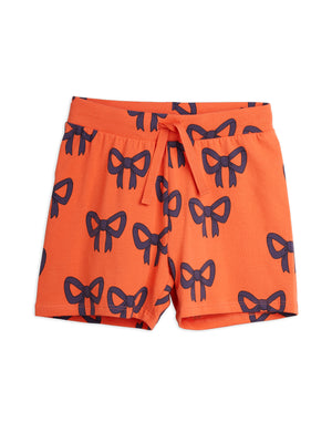 Mini Rodini Organic Cotton Bow All Over Print Shorts Red