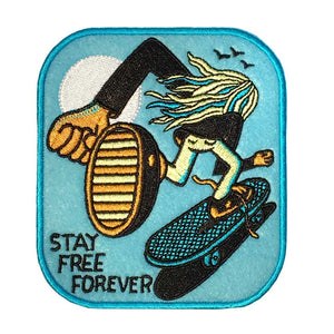 Jeremyville Stay Free Forever Woven Patch