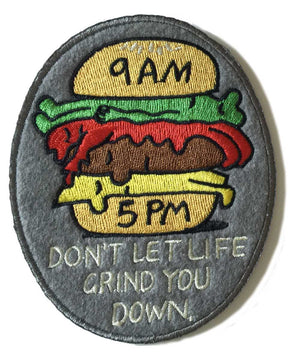 Jeremyville Don't Let Life Grind You Down Woven Patch