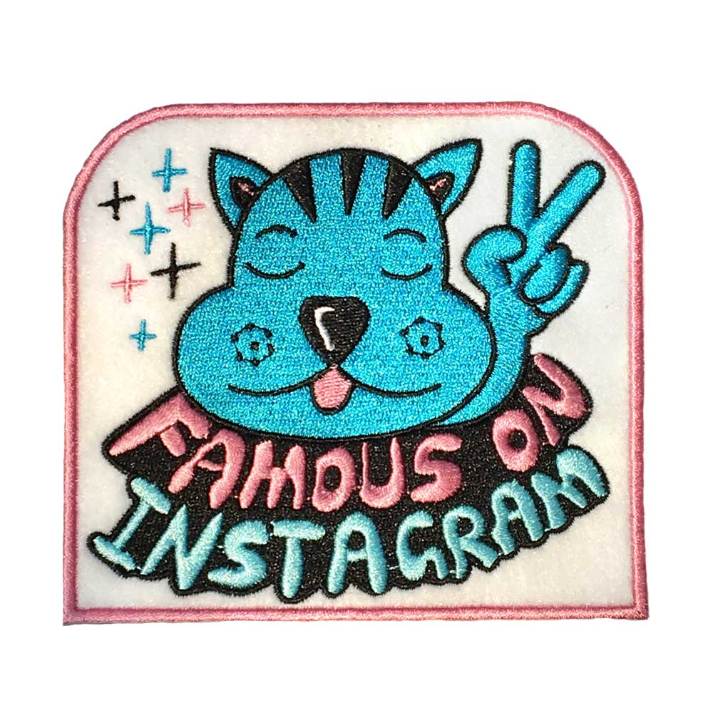 Jeremyville Famous On Instagram Woven Patch