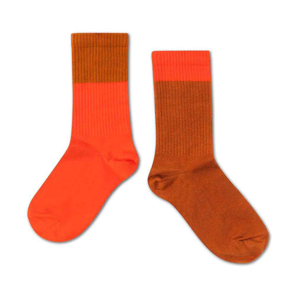 Repose AMS Socks Vibrant Red Autumn Block