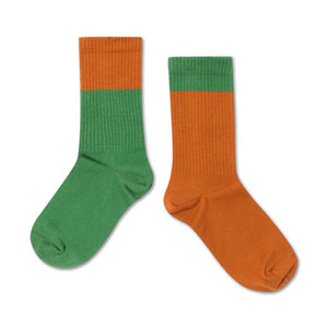 Repose AMS Socks Hunter Green Autumn Block