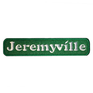 Jeremyville Green Woven Patch