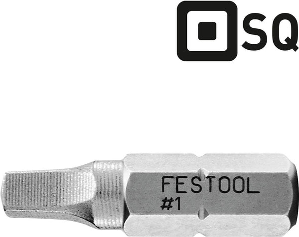 Festool 205096 SQ3-25mm Bit CE 10x
