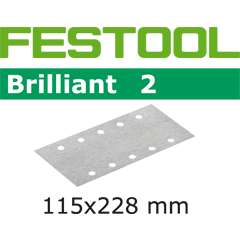 Festool 492818 Abrasives, 115mm x 228mm Brilliant2 P40 Grit, 10 Pack