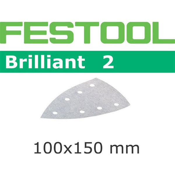 Festool 492802 Abrasives, 100mm x 150mm Brilliant2 P320 Grit, 100 Pack