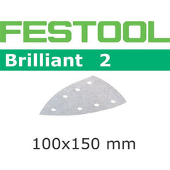 Festool 492796 Abrasives, 100mm x 150mm Brilliant2 P100 Grit, 100 Pack
