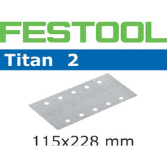 Festool 492743 Abrasives, 115mm x 228mm Titan2 P220 Grit, 100 Pack