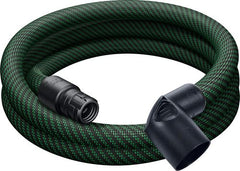 Festool 500680 Smooth Anti-Static Hose, Tapered D32/27 with Angle Adapter, 3.5m Long