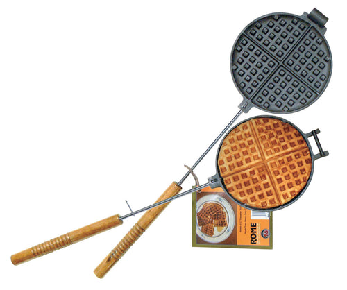 Chuck Wagon Cast Iron Waffle Iron - Original By Rome