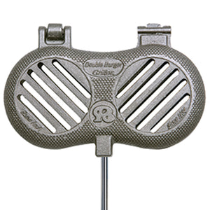 Double Burger Griller Cast Iron - Original By Rome