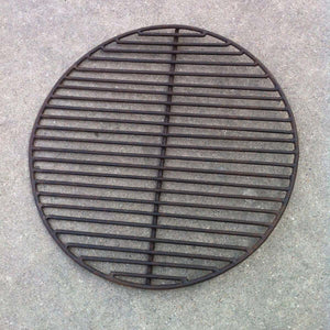 "23.5"" Dia. Hand Riveted Steel Fire Pit Traditionally Made In India With Grill Grate and Stand"
