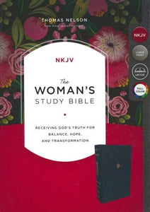NKJV Woman's Study Bible Navy Leathersoft by thomas nelson