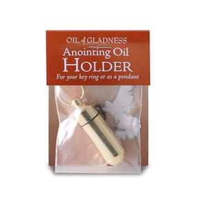 Anointing Oil Holder Goldtone