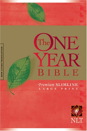NLT One Year Bible Slimline Large Print