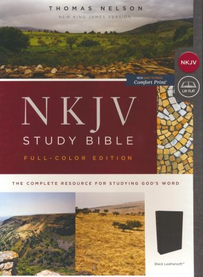 NKJV Study Bible Full Color Edition Black Imitation Thomas Nelson