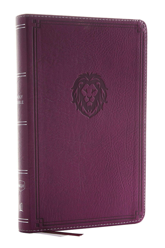 NKJV Thinline Bible Youth Edition Berry Leathersoft by Thomas Nelson